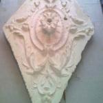plafond ornament verwijderd en schoongemaakt