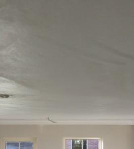 plafond gepleisterd, sausklaar maken met finisher